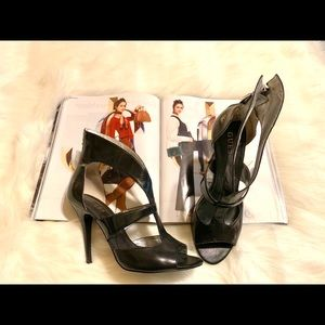 Guess Black Caged Heel